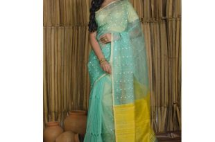 Pure Muslin Saree in Sea Green at Rs 7500/piece | Fancy Sarees .