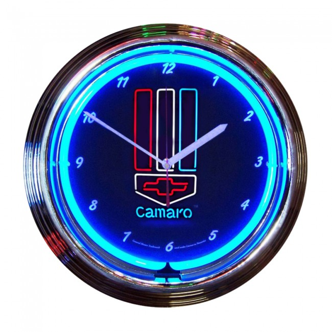 Camaro Red, White and Blue Neon Clo