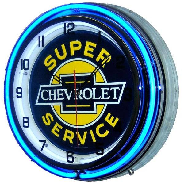 """18"""" Chevrolet Neon Clock - Super Service with Free Shippi"""