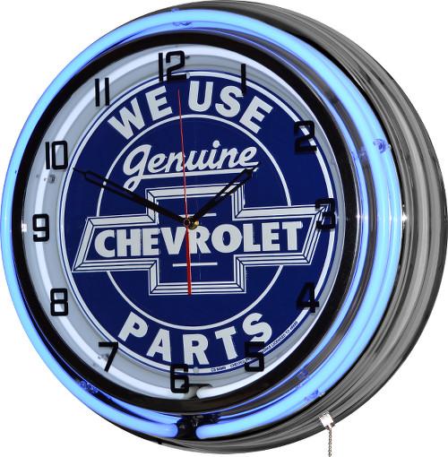 """18"""" Chevrolet Genuine Parts Neon Clo"""
