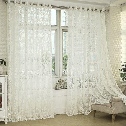 White Net Curtain, Size: 4x6 Feet, Rs 180 /meter Home Curtain .