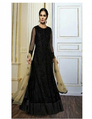 Party Wear Gorgeous Black Net Designer Salwar Kameez, Rs 4330 .