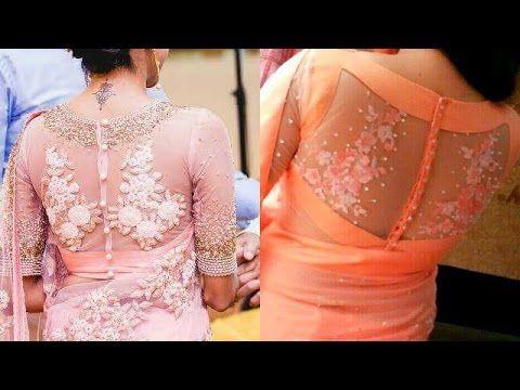 Latest Back Net Work Blouse Designs - YouTube | Fancy blouse .