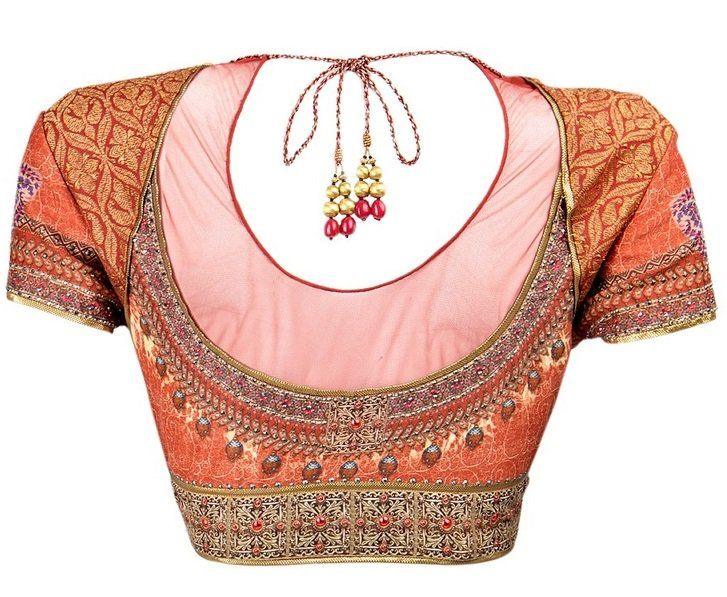 Blouse Back Neck Designs for Net Sarees (With images) | Blouse .