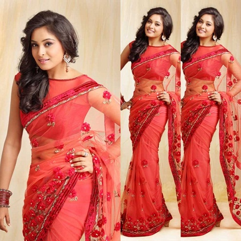 18 Best Collection of Net Saree Blouse Neck Designs for Ladi