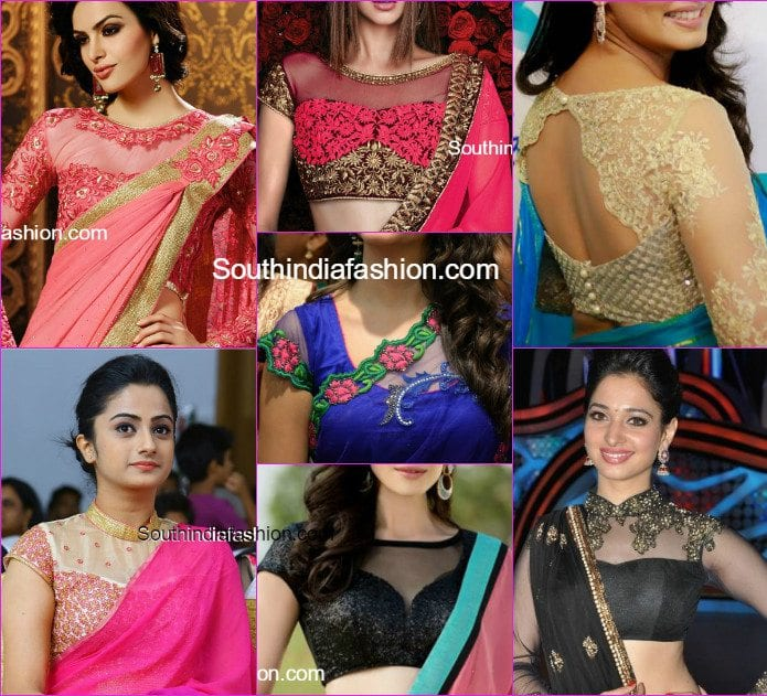 Stunning Net Blouse Designs – South India Fashi