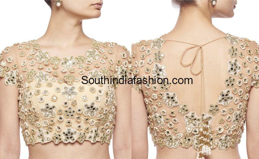 Stunning Net Blouse Designs | Netted blouse designs, Net blouses .