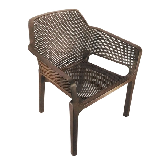 Nilkamal Captain Chair - Weather Brown (Set of