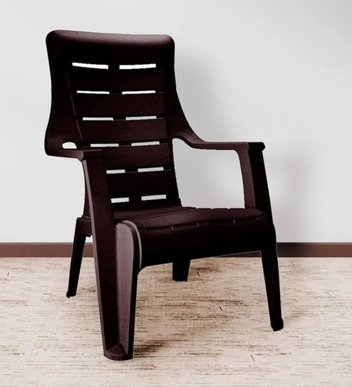 Buy Sunday Chair in Brown Colour by Nilkamal Online - Armed .