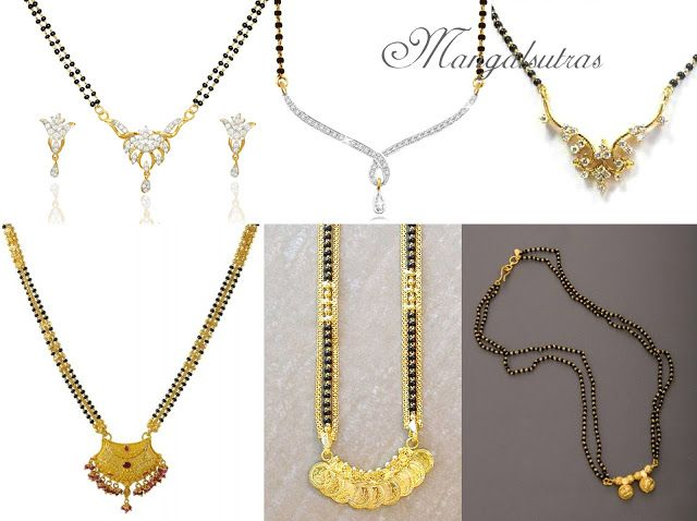 north indian mangalsutra - Google Search (With images) | Black .