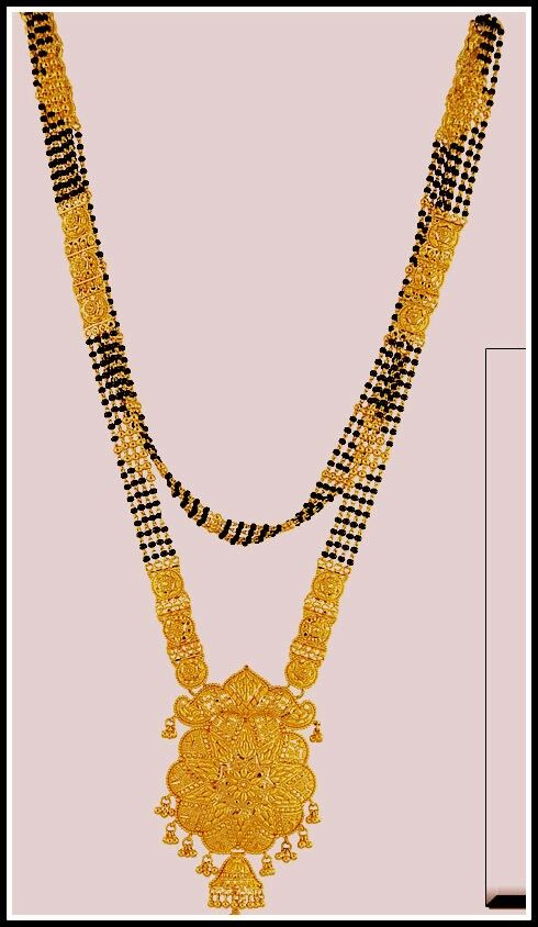 Karimanimala# is a combination of gold and black beads. It's .
