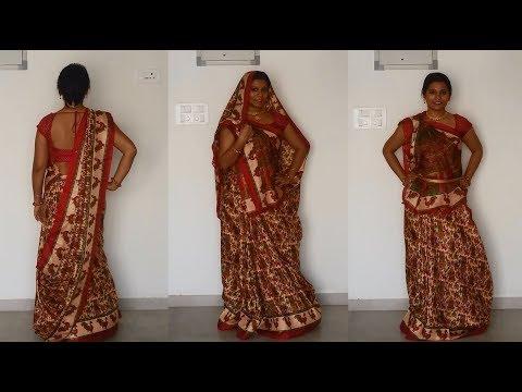 North Indian Saree draping tutorial - YouTu