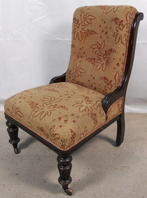 Victorian Ebonized Nursing Chair | 132783 | Sellingantiques.co.