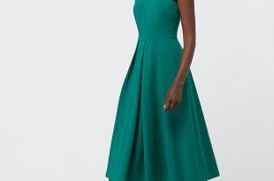 Penelope Midi Occasion Dress | Green | UK 8 / US 4 / EU 36 .