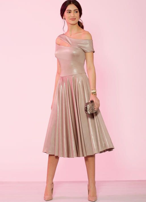 M7926 Create It! Misses' and Women's Special Occasion Dresses Knit .