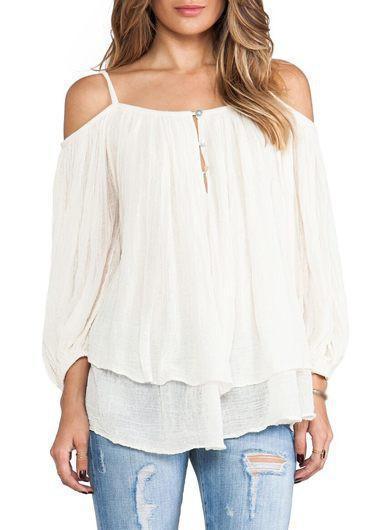 Cream - Off-Shoulder Blouse – Fr