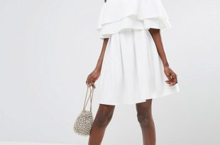 ASOS Ruffle Off Shoulder Mini Dress | AS