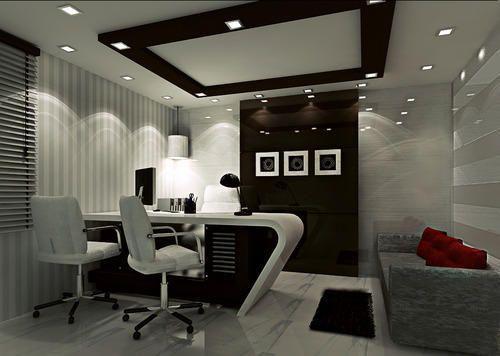 Office MD Room Interior Work | Small office design interior .