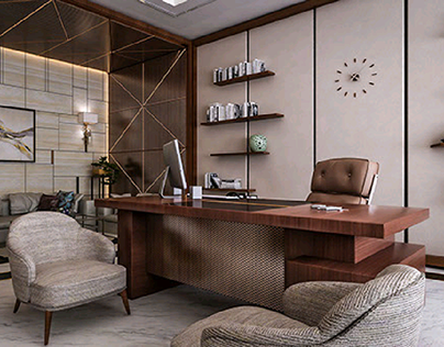 5 LUXURY OFFICES PAINT COLORS | Office interior design modern .