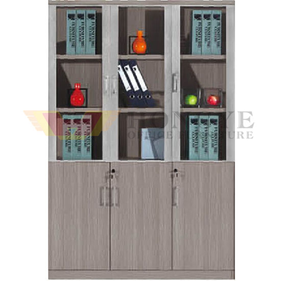 China 3 Glass Doors Modern Office Cabinet Design (HY-NNH-W213 .