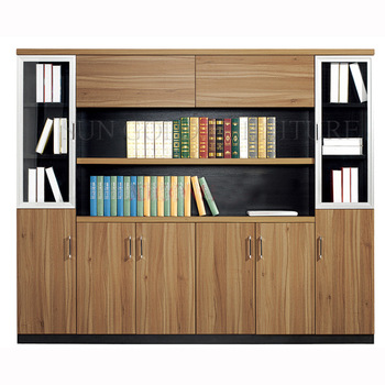 Simple wooden office furniture filing cabinet showcase design (SZ .
