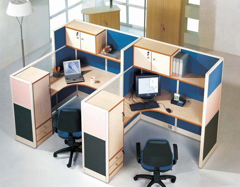 Popular Small Office Cubicles With Overhead Cabinet And Shelves .