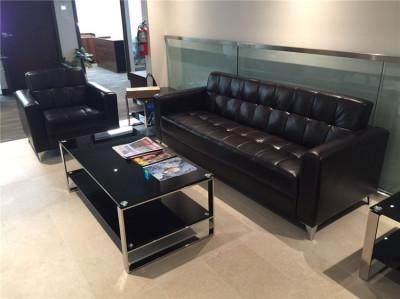 Custom office sofa - Latest Designs Modern Leather Office Sofa Set .