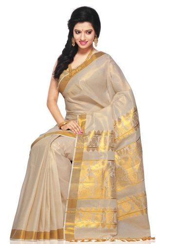Silk Zari Kerala Onam Saree, Rs 1000 /piece(s) Aaromal Groups | ID .