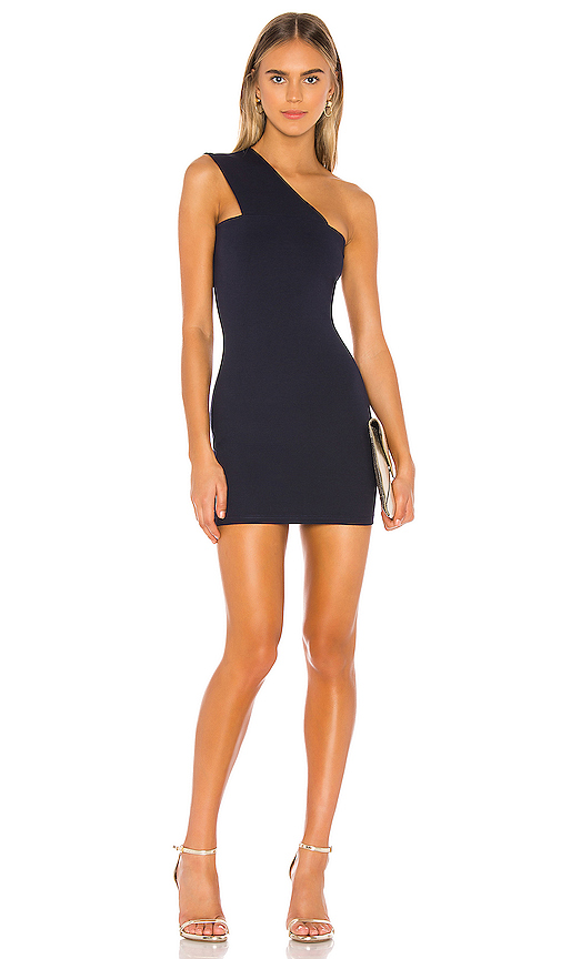 superdown Rockie One Shoulder Dress in Navy | REVOL