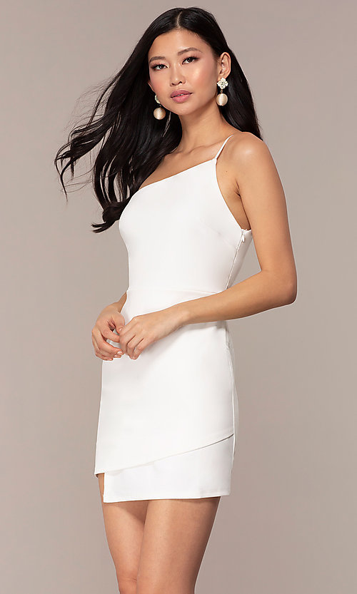 Short One-Shoulder Graduation Party Dress - PromGi