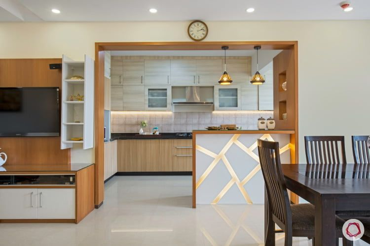 open-kitchen-design-brown-and-white (With images) | Kitchen design .