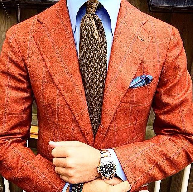 Dapper Orange Blazer | Blazer outfits men, Orange blazer outfits .