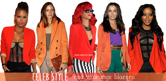 Red and Orange Blazers/Jackets - Fall Trend | O So Chic Bl
