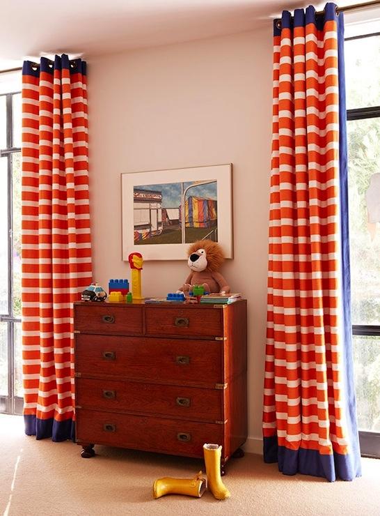 Orange Curtains - Traditional - boy's room - Anne Hepfer Desig