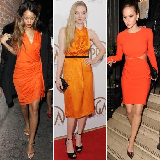 Style an Orange Dress Like Jennifer Lawrence | POPSUGAR Fashi
