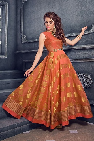 9 Beautiful and Attractive Orange Frocks for Women | Styles At Li