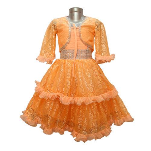 Net Party Wear Orange Frock, Rs 230 /piece Style Dresses | ID .