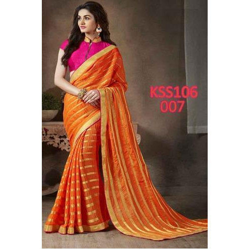 Beautiful Orange And Pink Saree at Rs 1049/piece | Designer Sarees .