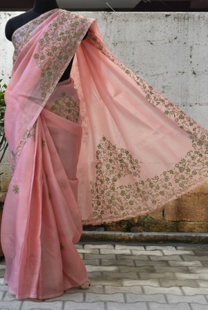 Buy Fancy Organza Sarees Online — Aavaranaa.com - Simran - Medi