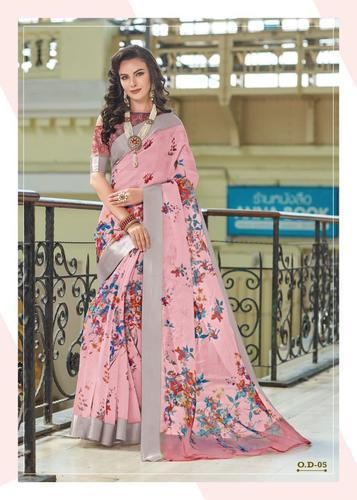 Digital Print Designer Organza Saree for Women, Rs 1669 /piece Fab .