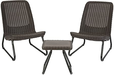 Amazon.com: Keter Rio 3 Piece Resin Wicker Patio Furniture Set .