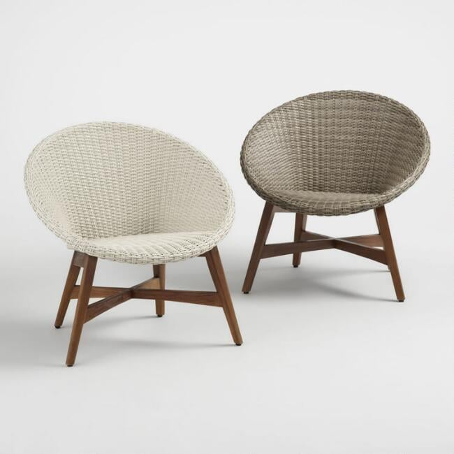 Round All Weather Wicker Vernazza Outdoor Chairs   It's Official .