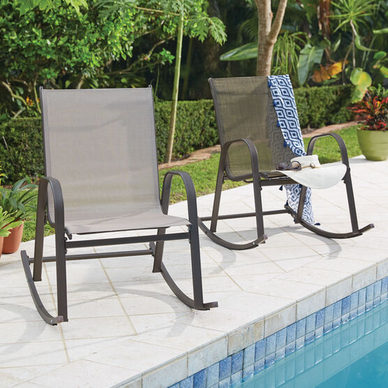 Extra Wide Outdoor Rocker| Outdoor Chairs | Brylane Ho