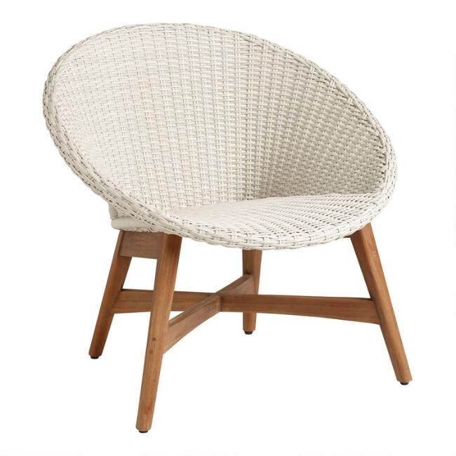 Round All Weather Wicker Vernazza Outdoor Chair Set of 2 | World .