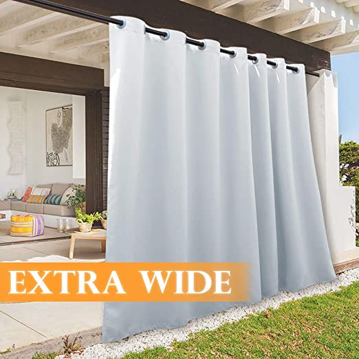 Amazon.com: RYB HOME Extra Wide 100 inch Outdoor Curtains for .