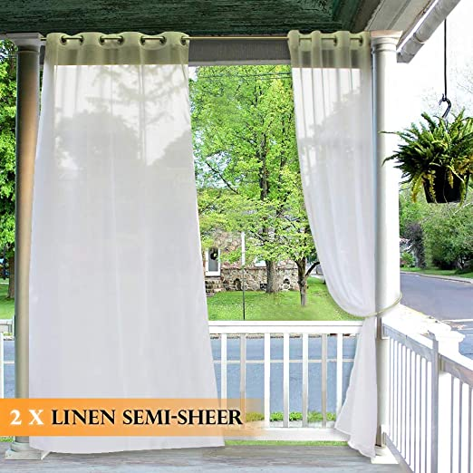 Amazon.com: RYB HOME Outdoor Curtains for Patio - 2 Panels Linen .