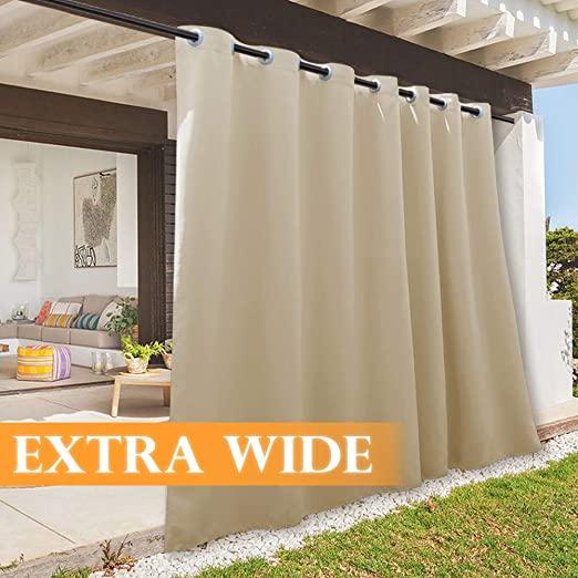 Amazon.com: RYB HOME Patio Curtains Outdoor Canvas Curtain, Summer .