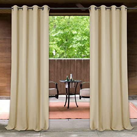 Amazon.com : StangH Indoor Outdoor Curtains 84 inches - Blackout .