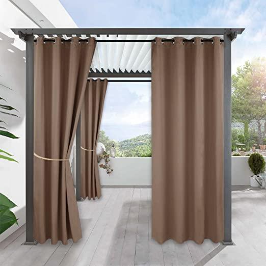 Amazon.com: RYB HOME Outdoor Patio Curtains - Gazebo Waterproof .