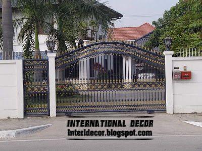 modern sliding iron gate design UK, outdoor sliding gates for .